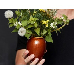 BITZ Stentøjs Vase i farven Amber 3.størelser