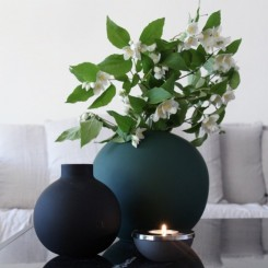 Cooee Design Ball vase i farven Dark Green