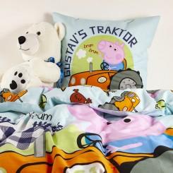 Artic sengesæt Gustav gris og hans traktor
