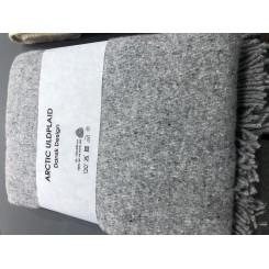 Artic Uld plaid i farven grå Melange