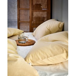 Høie sengesæt Lyra i farven dus gul