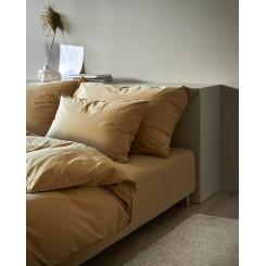 Høie sengesæt Frøya økologisk bomuld i farven brænd gul