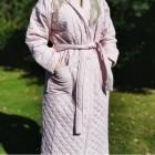 by SKAGEN badekåbe /Morgenkåbe Kirsten med rosa striber kraftig kvalitet