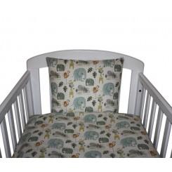 Nørgaard Madsen sengetøj grønne dyr i farven beige baby og Junior