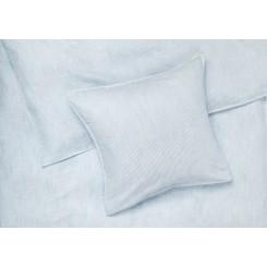 Juna Sengesæt Monochrome Lines I farven lys blå/ hvid smal strib