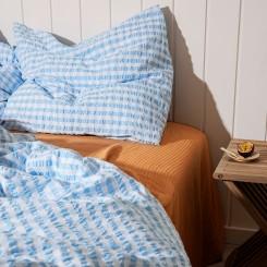 Juna Sengesæt bæk og bølge i farven blå/hvid tern.
